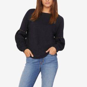 Sanctuary   Black Stud Bell Sleeve Sweatshirt M